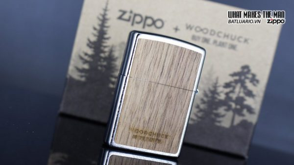 Zippo 29902 – Zippo Woodchuck Paths Heringbone Sweep Walnut Emblem 6
