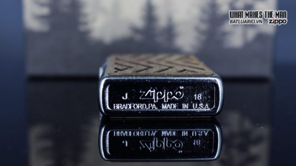 Zippo 29902 – Zippo Woodchuck Paths Heringbone Sweep Walnut Emblem 7