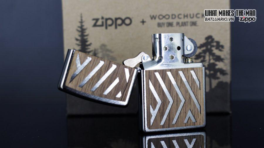 Zippo 29902 – Zippo Woodchuck Paths Heringbone Sweep Walnut Emblem 8