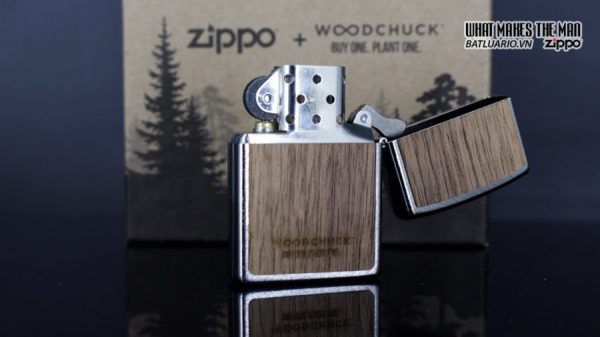 Zippo 29902 – Zippo Woodchuck Paths Heringbone Sweep Walnut Emblem 9