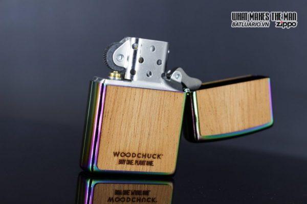 Zippo 29903 – Zippo Woodchuck Leaves Walnut Multi Color Mahogany Emblem 12