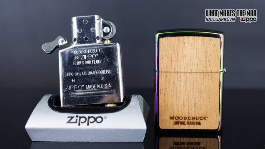 Zippo 29903 – Zippo Woodchuck Leaves Walnut Multi Color Mahogany Emblem 14