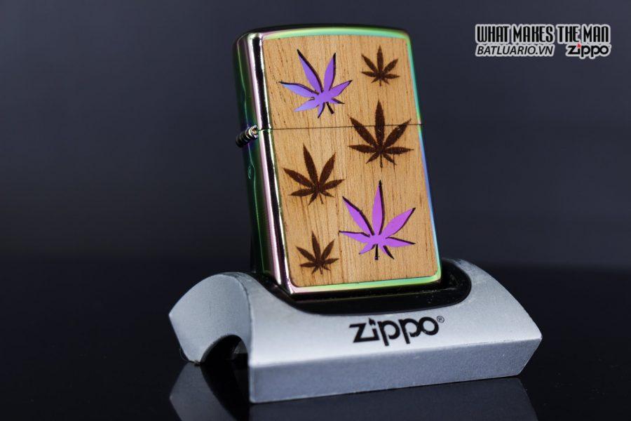 Zippo 29903 – Zippo Woodchuck Leaves Walnut Multi Color Mahogany Emblem 15