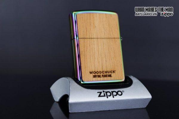 Zippo 29903 – Zippo Woodchuck Leaves Walnut Multi Color Mahogany Emblem 16