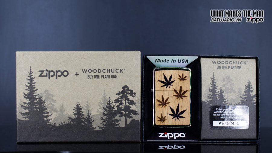 Zippo 29903 – Zippo Woodchuck Leaves Walnut Multi Color Mahogany Emblem 2