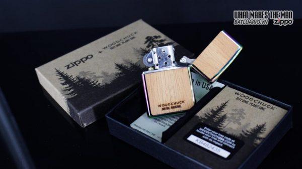 Zippo 29903 – Zippo Woodchuck Leaves Walnut Multi Color Mahogany Emblem 6