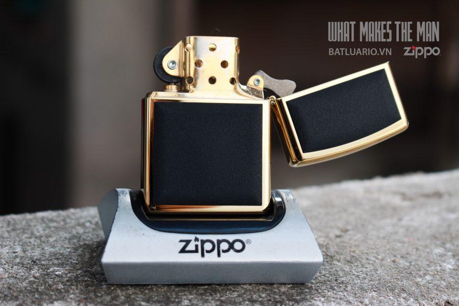 ZIPPO LA MÃ 2000 – ZIPPO ULTRALITE BLACK – GOLD PLATE 6