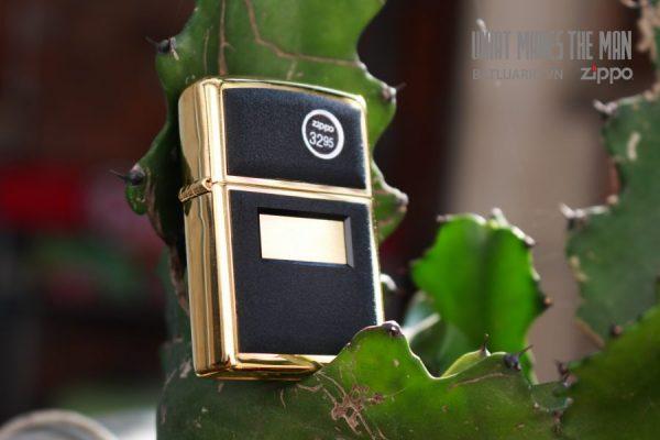 ZIPPO LA MÃ 2000 – ZIPPO ULTRALITE BLACK – GOLD PLATE