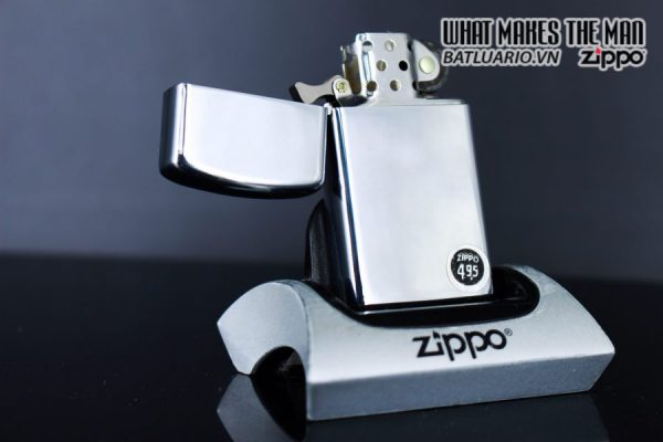 ZIPPO SLIM XƯA 1972 – PLAIN HIGH POLISHED CHROME – TRƠN 2 MẶT 2
