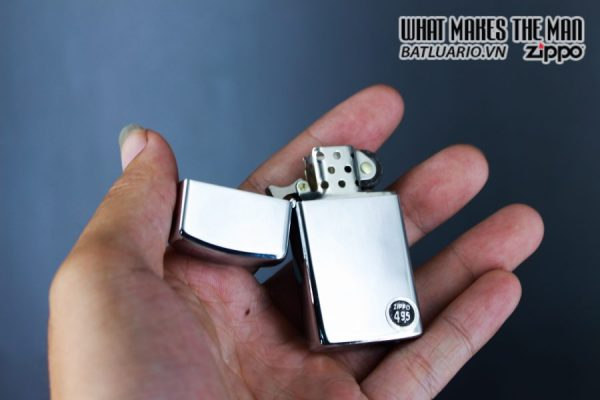 ZIPPO SLIM XƯA 1972 – PLAIN HIGH POLISHED CHROME – TRƠN 2 MẶT 6