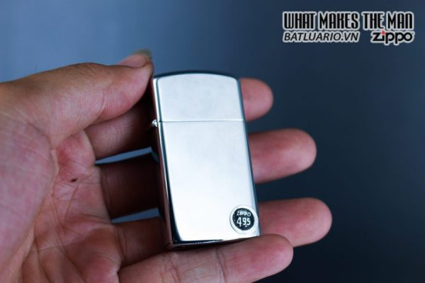 ZIPPO SLIM XƯA 1972 – PLAIN HIGH POLISHED CHROME – TRƠN 2 MẶT 7