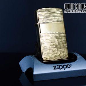 ZIPPO SLIM XƯA 1979 – GOLD PLATE GOLDEN ELEGANCE – MẠ VÀNG 22K