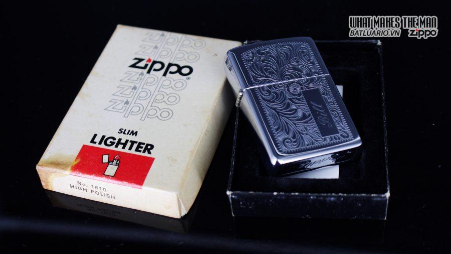 ZIPPO XƯA 1978 – HOA VĂN Ý – VENETIAN - BILL