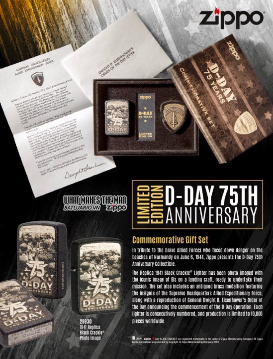 ZIPPO D-DAY 75TH ANNIVERSARY COMMEMORATIVE GIFT SET