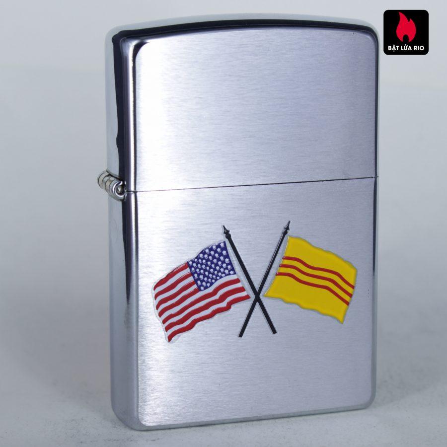 ZIPPO 2003 - AMERICAN & VIETNAM FLAG