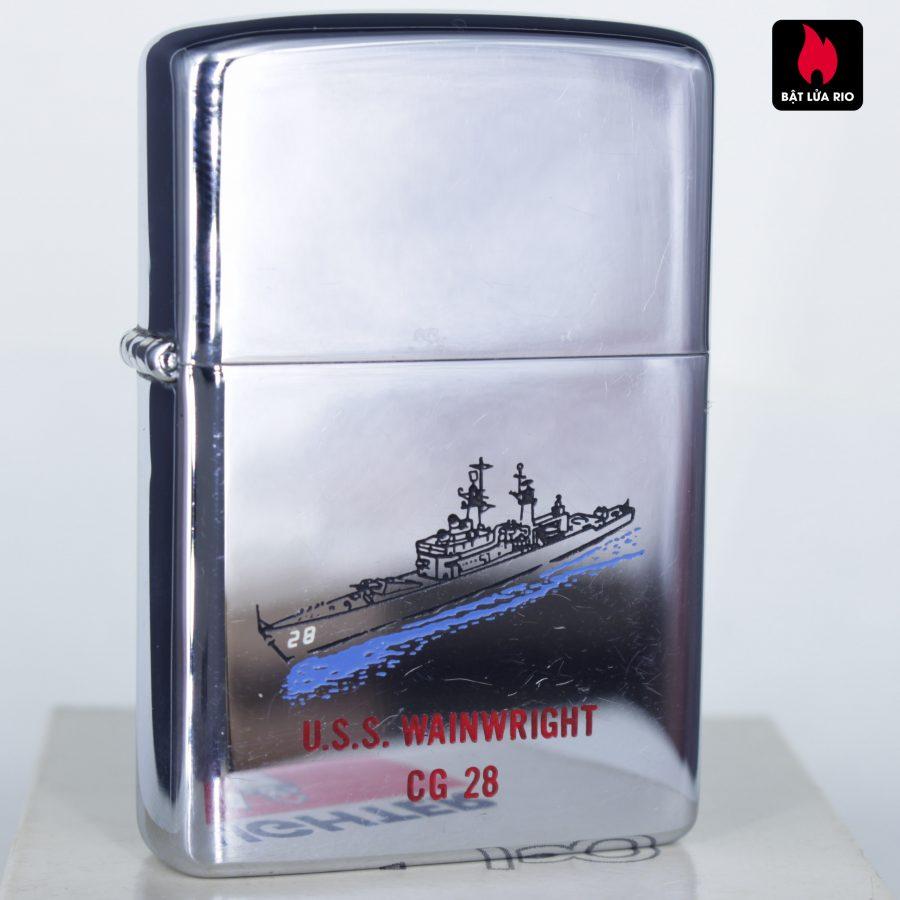 ZIPPO XƯA 1977 - USS WAINWRIGHT CG 28