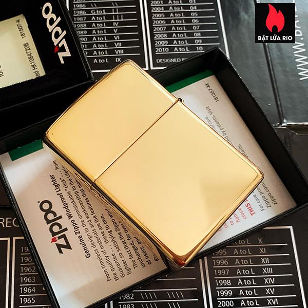 Zippo 254B - Zippo High Polished Brass 13