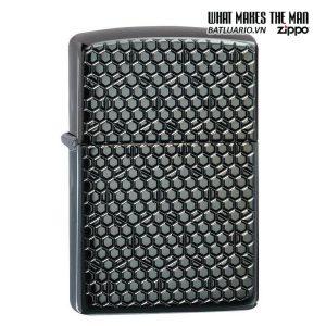 Zippo 49021 - Zippo Armor Hexagon Design Black Ice