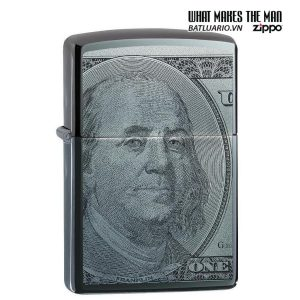 Zippo 49025 - Zippo Hundred Dollar Bill Black Ice