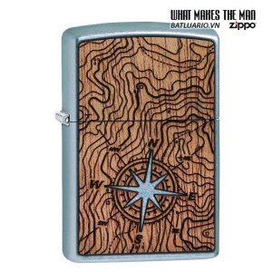 Zippo 49055 - Zippo Woodchuck Compass Street Chrome