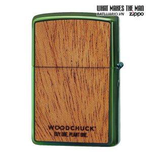 Zippo 49057 - Zippo Woodchuck Zippo Flame High Polish Green 1