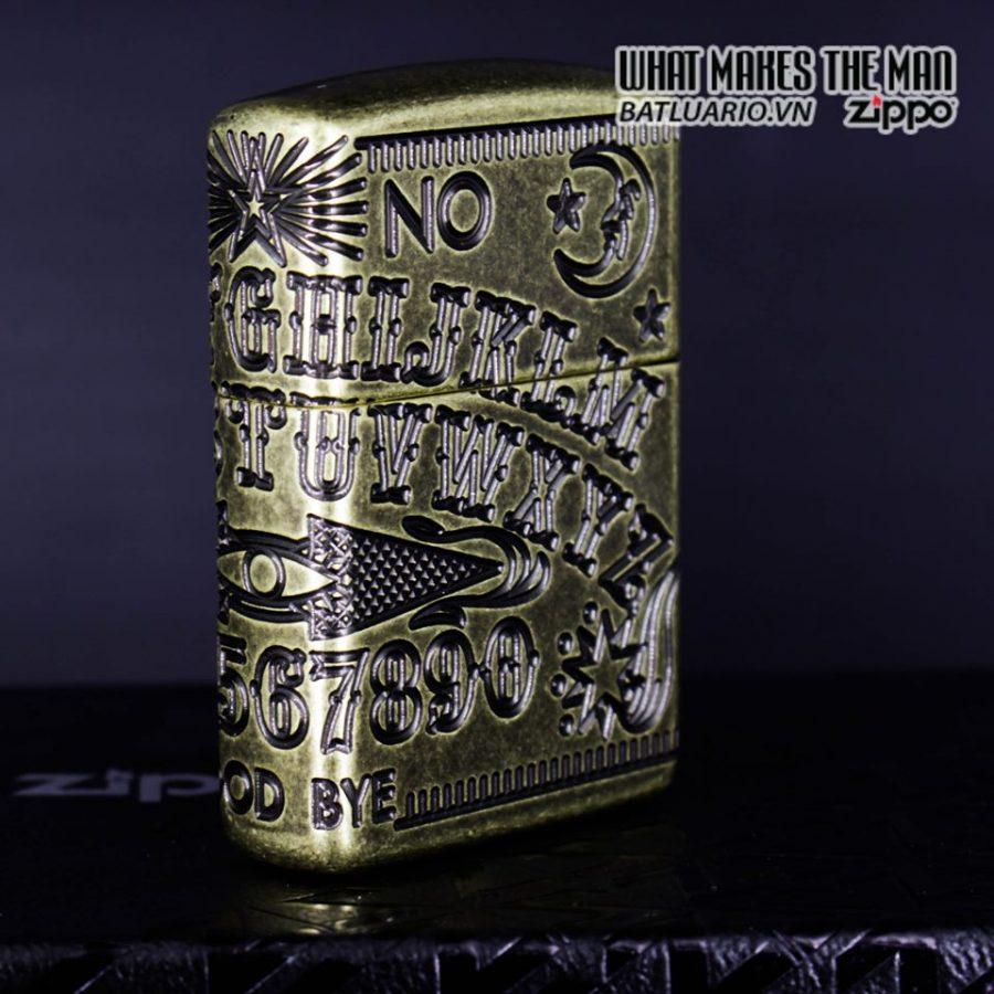 Zippo 49001 - Zippo Armor MultiCut Ouija Board Antique Brass 11