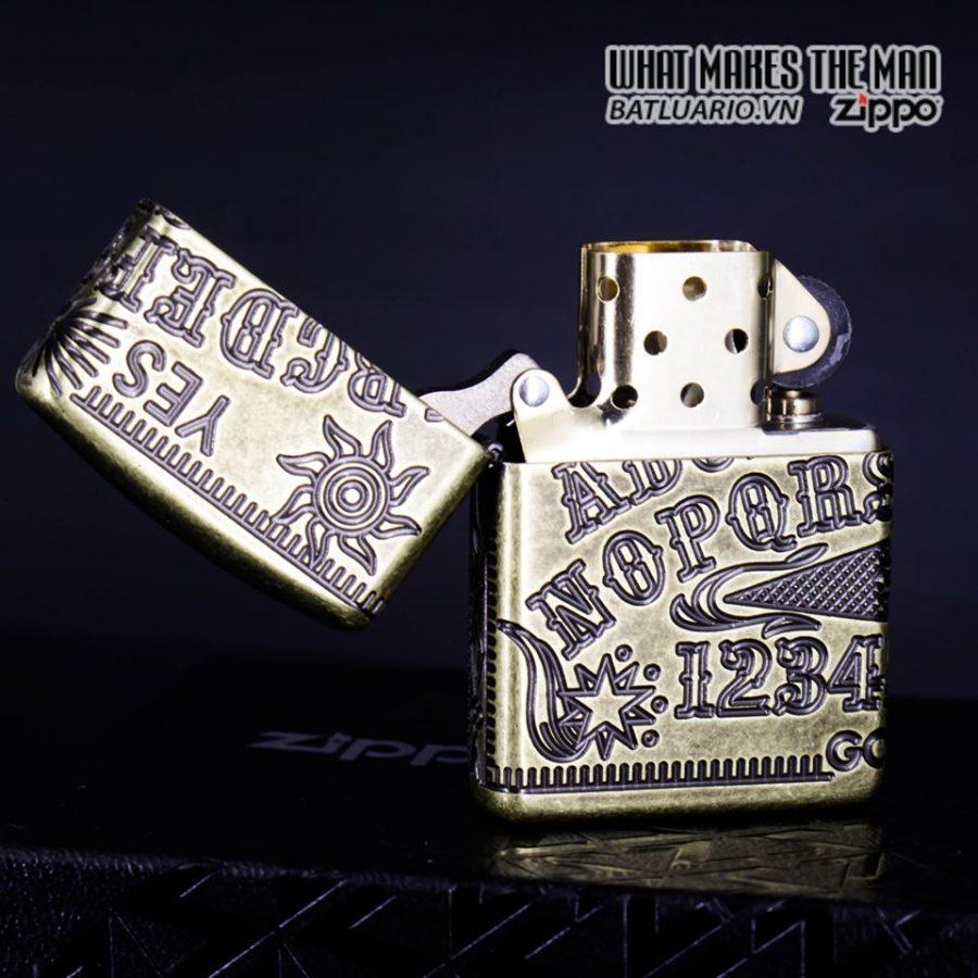 Zippo 49001 - Zippo Armor MultiCut Ouija Board Antique Brass 12
