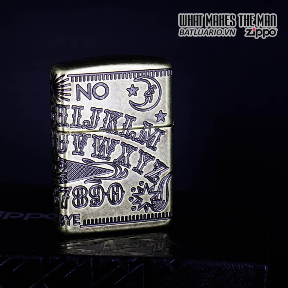 Zippo 49001 - Zippo Armor MultiCut Ouija Board Antique Brass 15