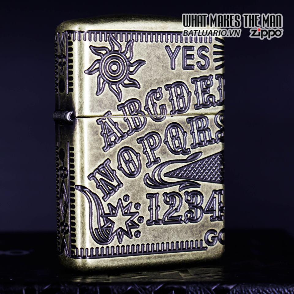 Zippo 49001 - Zippo Armor MultiCut Ouija Board Antique Brass 3