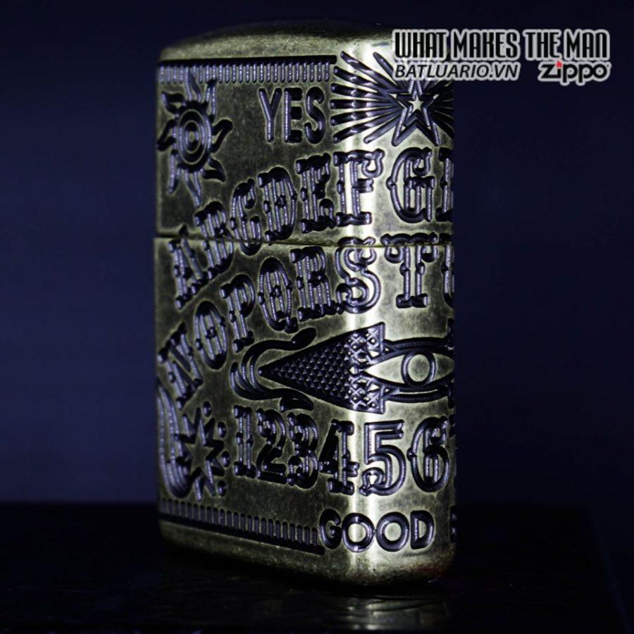 Zippo 49001 - Zippo Armor MultiCut Ouija Board Antique Brass 6