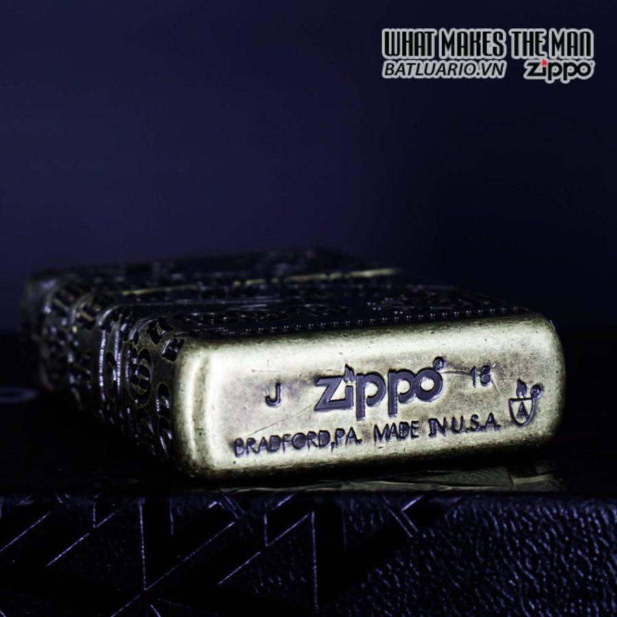 Zippo 49001 - Zippo Armor MultiCut Ouija Board Antique Brass 7