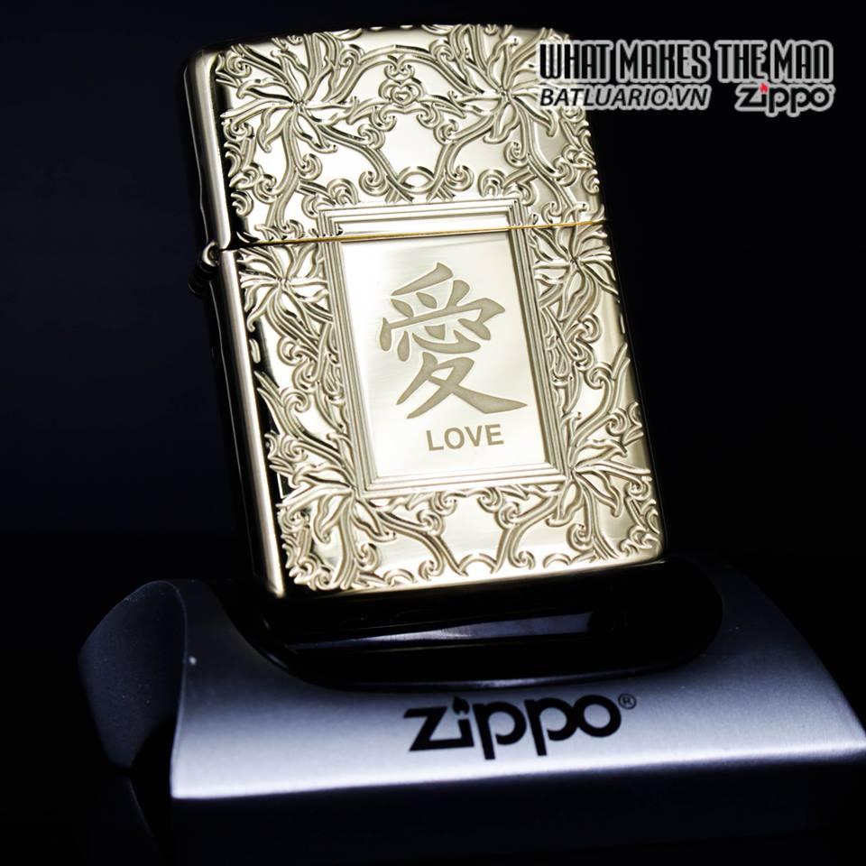 Zippo 49022 - Zippo Armor Chinese Love Symbol High Polish Brass 1