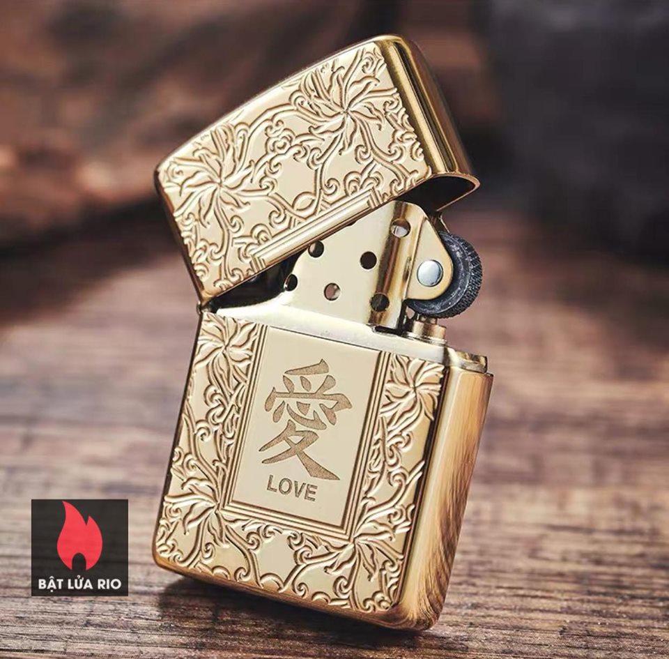 Zippo 49022 - Zippo Armor Chinese Love Symbol High Polish Brass 12