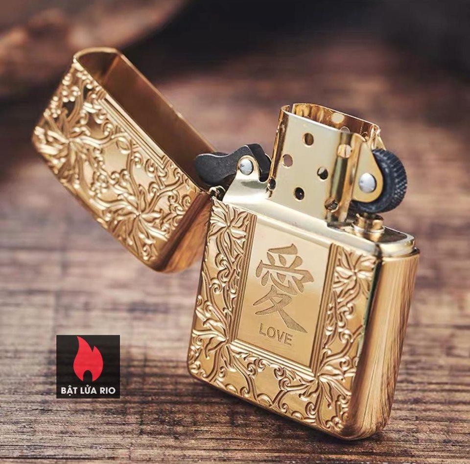 Zippo 49022 - Zippo Armor Chinese Love Symbol High Polish Brass 13