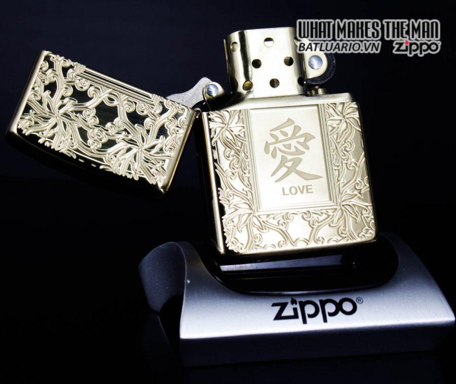 Zippo 49022 - Zippo Armor Chinese Love Symbol High Polish Brass 2