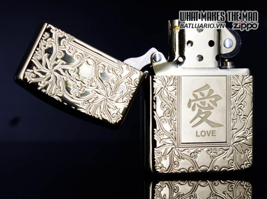 Zippo 49022 - Zippo Armor Chinese Love Symbol High Polish Brass 3