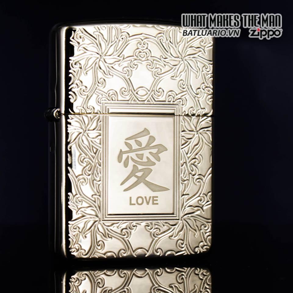 Zippo 49022 - Zippo Armor Chinese Love Symbol High Polish Brass 4