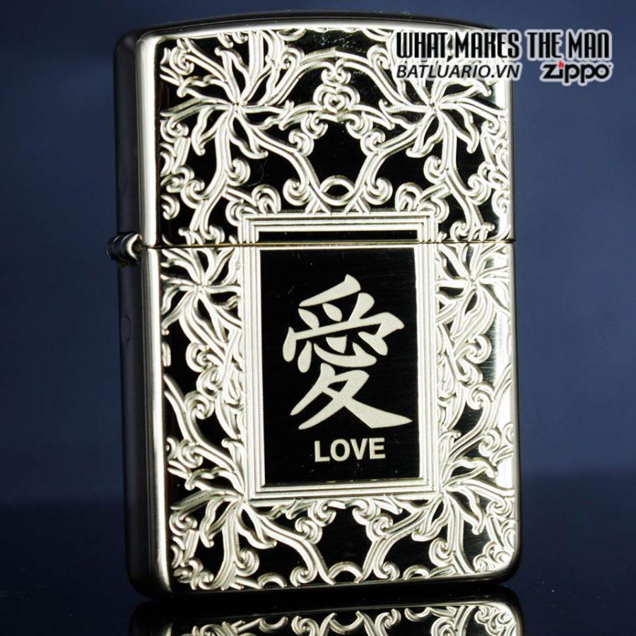 Zippo 49022 - Zippo Armor Chinese Love Symbol High Polish Brass 5