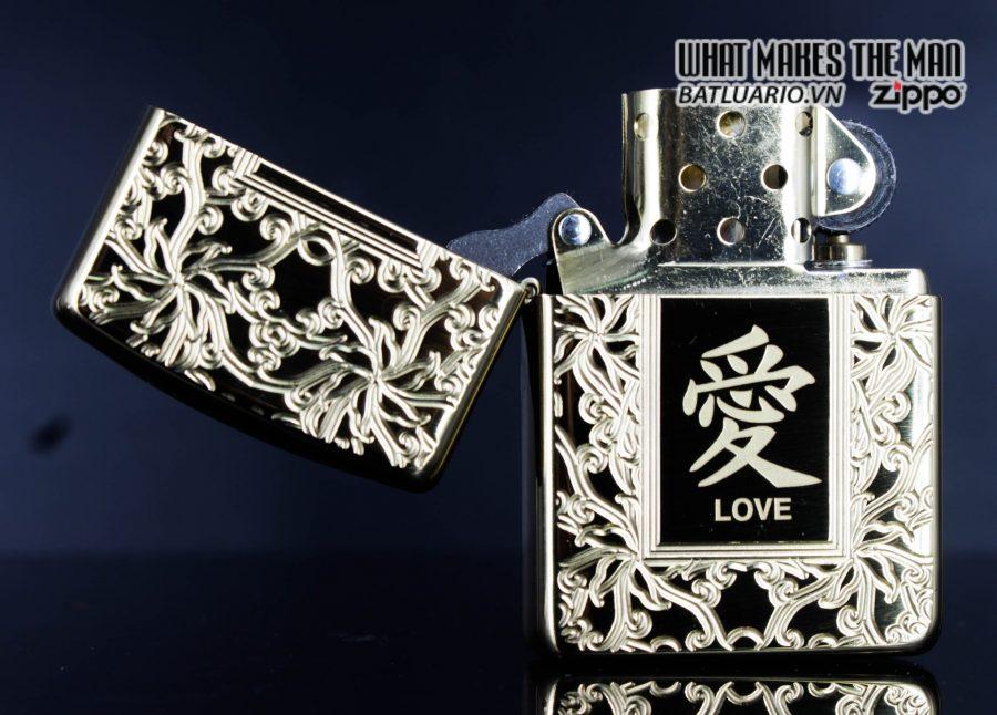 Zippo 49022 - Zippo Armor Chinese Love Symbol High Polish Brass 6
