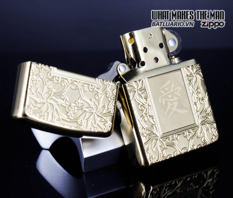 Zippo 49022 - Zippo Armor Chinese Love Symbol High Polish Brass 8