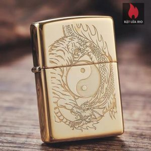 Zippo 49024 - Zippo Yin and Yang Tiger and Dragon High Polish Brass 13