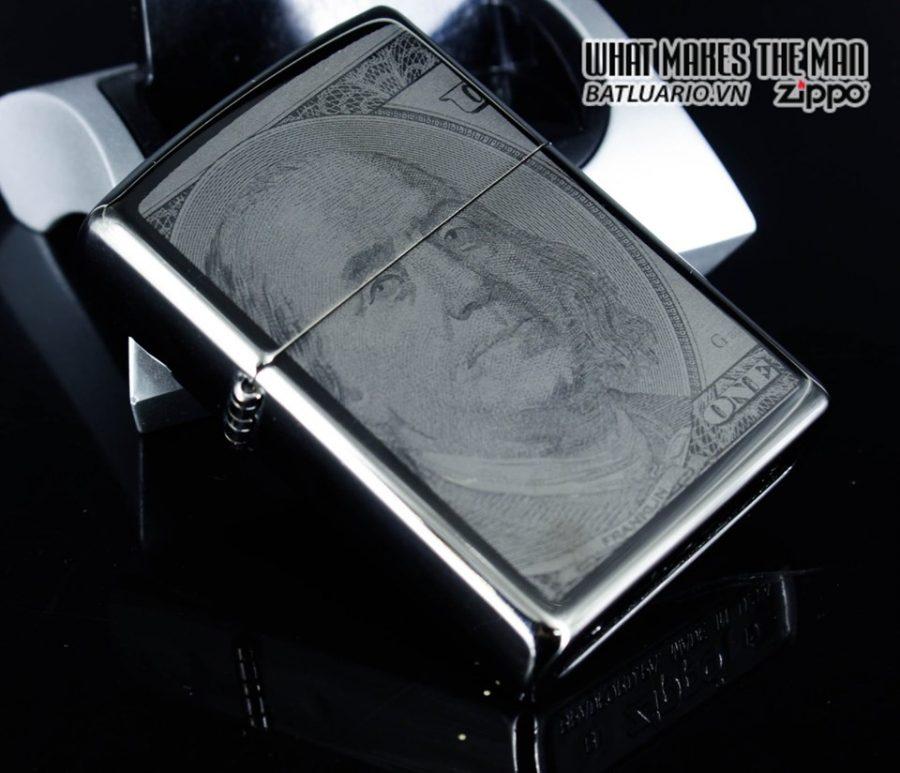 Zippo 49025 - Zippo Hundred Dollar Bill Black Ice 7