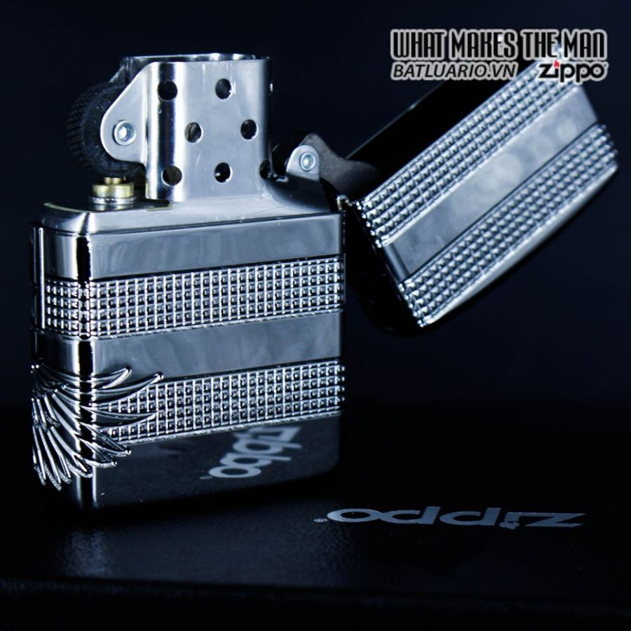 Zippo 49027 - Zippo Armor MultiCut Patriotic Eagle High Polish Chrome 11