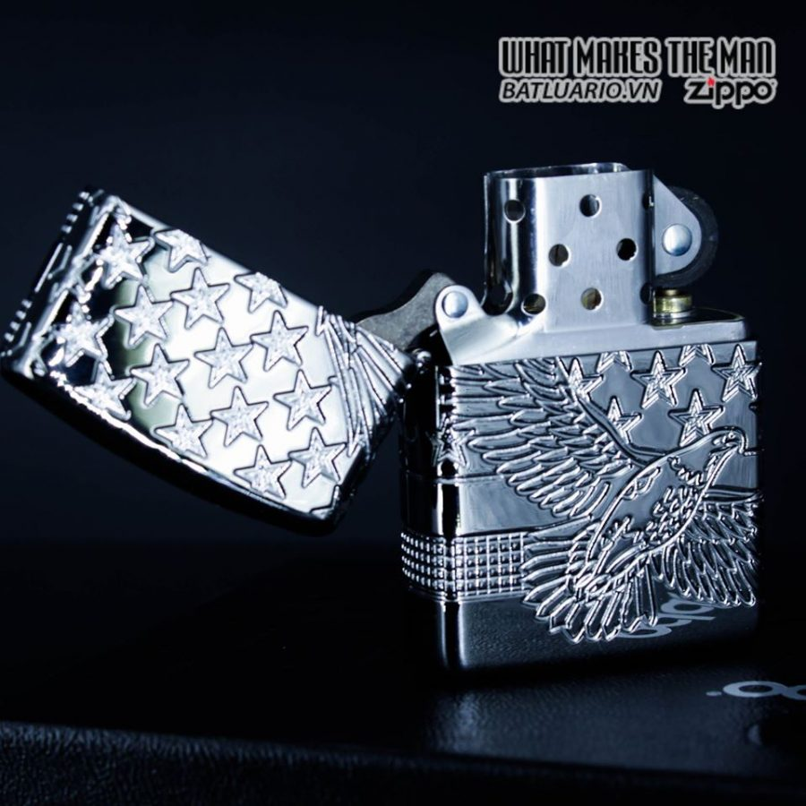 Zippo 49027 - Zippo Armor MultiCut Patriotic Eagle High Polish Chrome 9