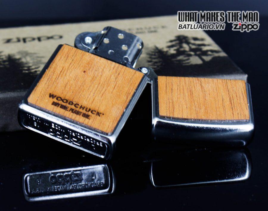 Zippo 49055 - Zippo Woodchuck Compass Street Chrome 11