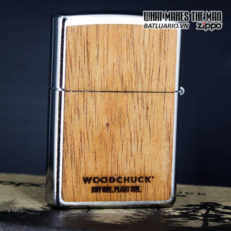 Zippo 49055 - Zippo Woodchuck Compass Street Chrome 2