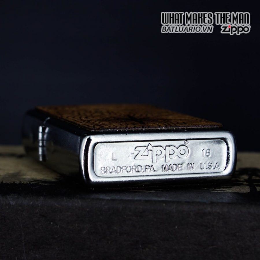 Zippo 49055 - Zippo Woodchuck Compass Street Chrome 3