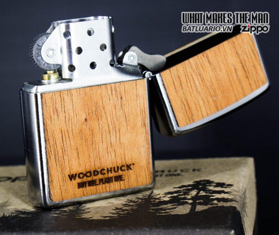 Zippo 49055 - Zippo Woodchuck Compass Street Chrome 5