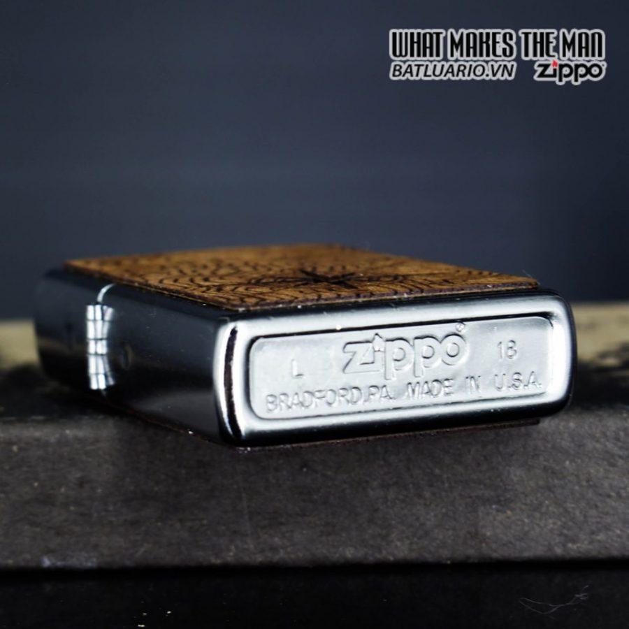 Zippo 49055 - Zippo Woodchuck Compass Street Chrome 9