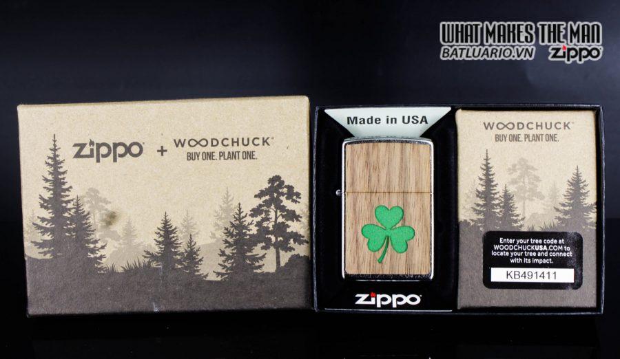 Zippo 49056 - Zippo Woodchuck Clover Street Chrome 1